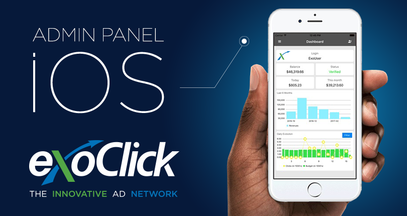 ExoClick launches iOS version of its popular Admin Panel App - ExoClick