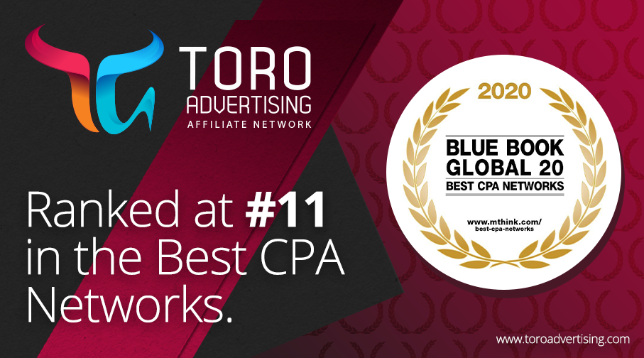 TORO Advertising ranked at #11 in mThink's top 20 CPA Network survey