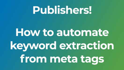 How to automate the keyword extraction from page meta tags