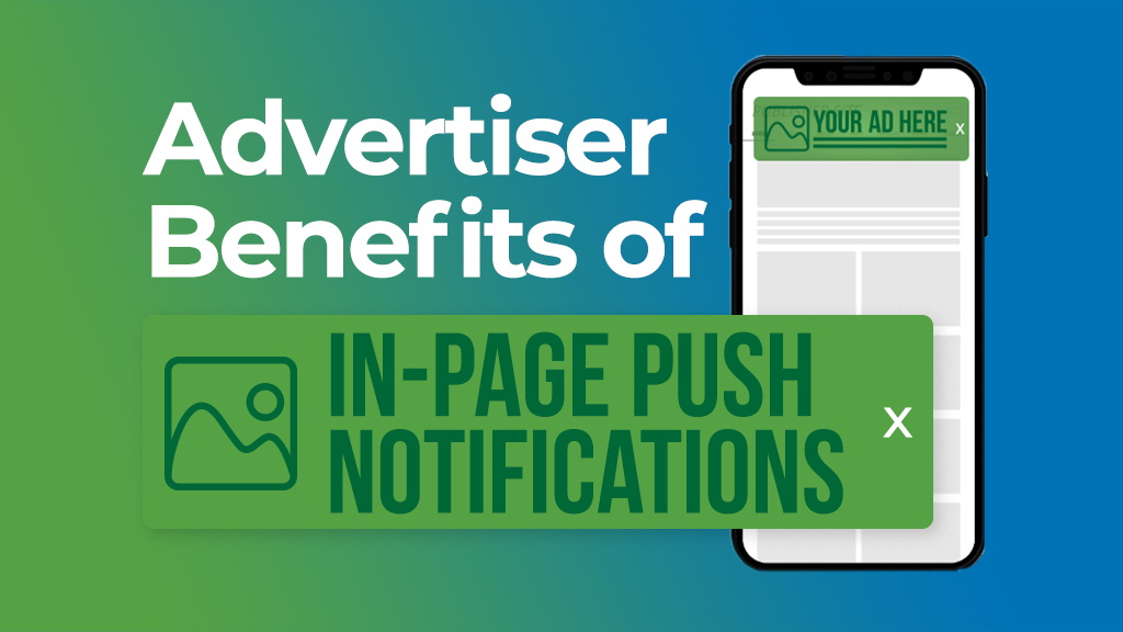 Advertiser benefits in-page push notifications