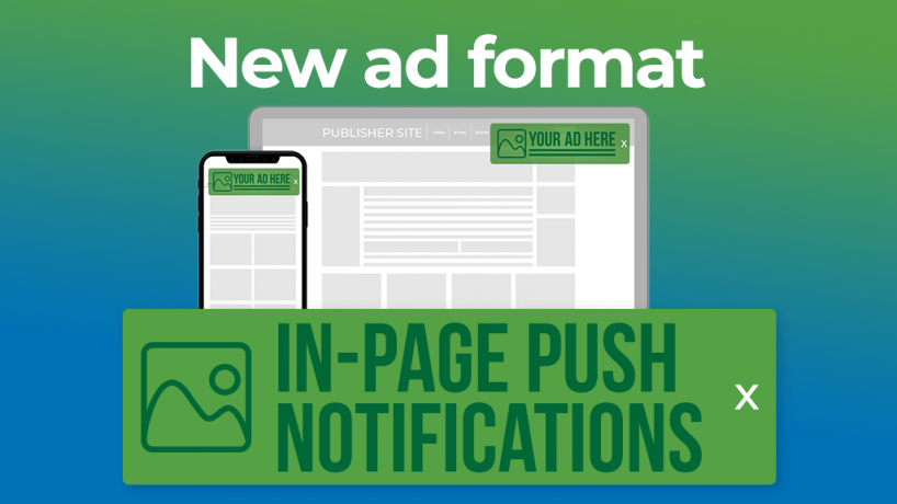 In-Page Push Notofications ad format
